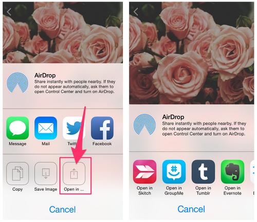 We Heart It - iOS Sharing - Share Sheet