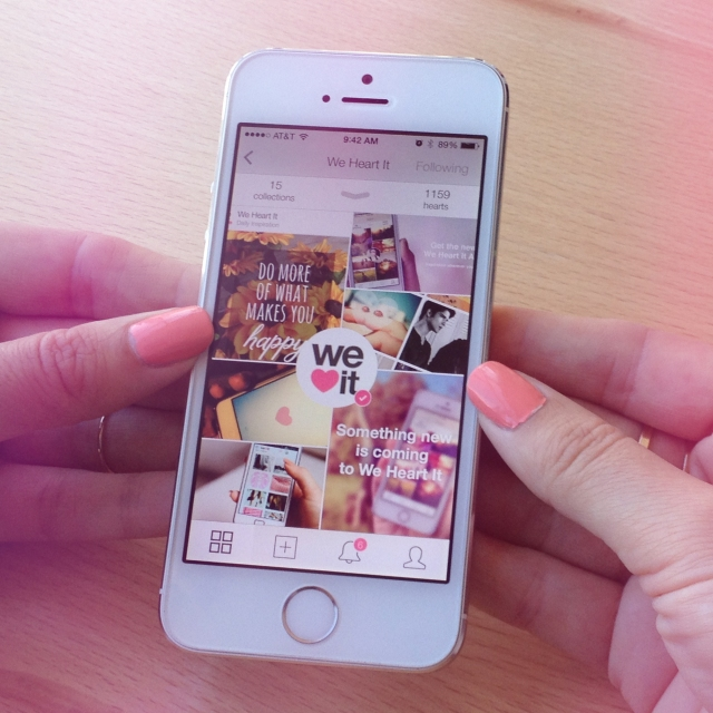 We Heart It version 5.0 for iOS