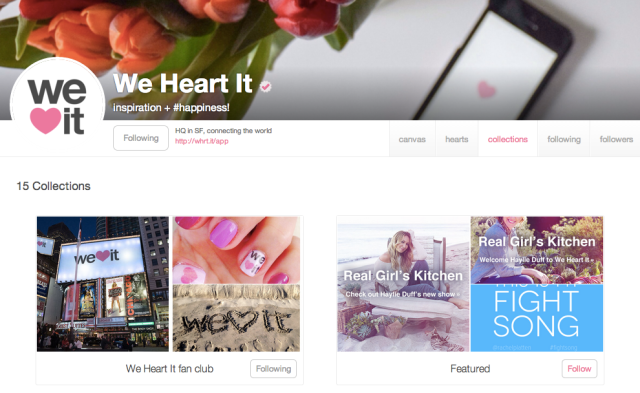 We Heart It - Following Collections